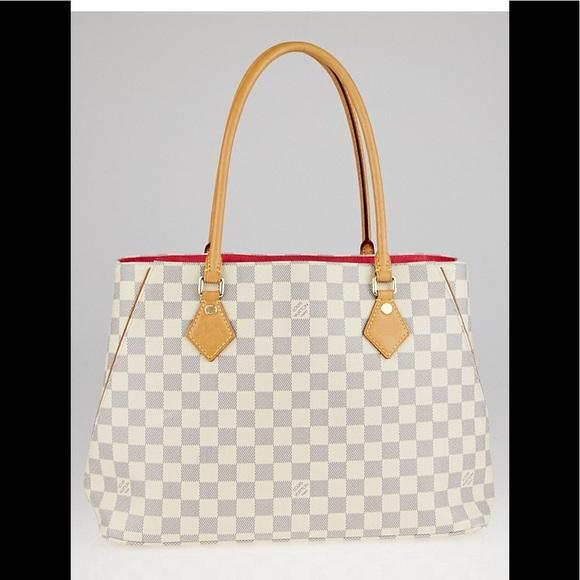 eb56a557a402 Louis Vuitton Handbags - Louis Vuitton Damier Azur Canvas Calvi Bag Tote